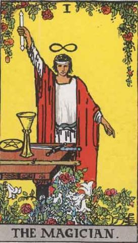 karta Mag, namalowana w 1909 r. przez Pamelę Coleman Smith.