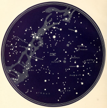 Mapa Nieba - półkula południowa